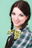 Friendly smiling young woman Royalty Free Stock Photography