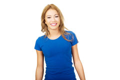 Friendly smiling young woman. Royalty Free Stock Photo