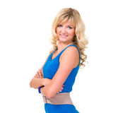 Friendly smiling young woman portrait Royalty Free Stock Image