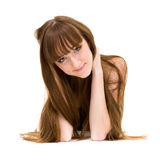 Friendly smiling young woman portrait Stock Photography