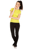 Friendly smiling young woman. Royalty Free Stock Images