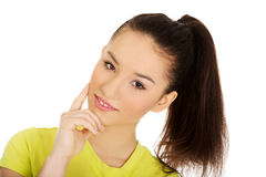 Friendly smiling young woman. Royalty Free Stock Photos