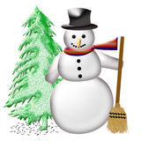 Friendly Snowman Stock Images