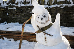 Friendly snowman Stock Photography