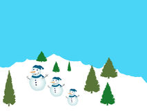 Friendly Snowpeople Royalty Free Stock Photography