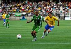 Friendly soccer match Brasil vs Algeria Stock Photos
