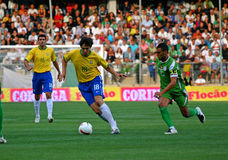 Friendly soccer match Brasil vs Algeria Royalty Free Stock Photo