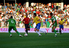 Friendly soccer match Brasil vs Algeria Stock Image