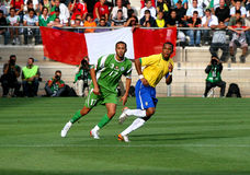 Friendly soccer match Brasil vs Algeria Stock Photography