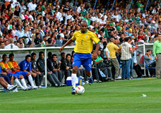 Friendly soccer match Brasil vs Algeria Royalty Free Stock Photos