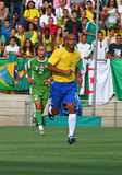 Friendly soccer match Brasil vs Algeria Royalty Free Stock Photography