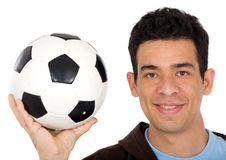 Friendly soccer player Stock Photography