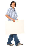 Friendly student carrying Royalty Free Stock Images