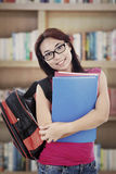 Friendly student in library Stock Photography