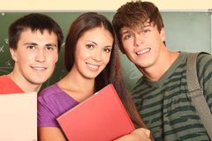 Friendly students Stock Photography