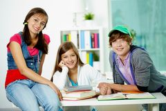 Friendly students Royalty Free Stock Images