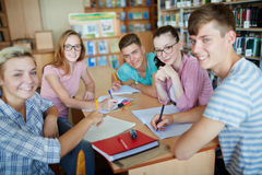 Friendly students Royalty Free Stock Photography