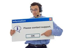 Friendly support personnel Royalty Free Stock Photos