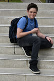 Friendly teenager boy Stock Photos