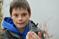 Friendly teenager boy Stock Image