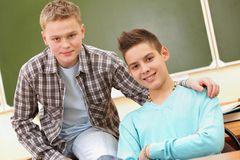 Friendly teenagers Stock Images