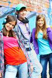 Friendly teens Royalty Free Stock Photo