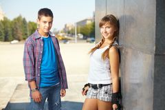 Friendly teens Royalty Free Stock Photos