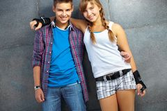 Friendly teens Royalty Free Stock Images