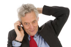 Friendly telephone call Royalty Free Stock Image