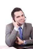 Friendly telephone operator Royalty Free Stock Photos