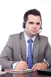 Friendly telephone operator Stock Image