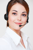 Friendly telephone operator Stock Images