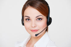 Friendly telephone operator Royalty Free Stock Image