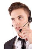 Friendly telephone operator Stock Photos