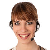 A friendly telephone operator Stock Photography