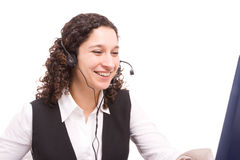 Friendly telephone operator Stock Photo