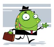 Friendly toon monster businessman in a black suit Royalty Free Stock Photography