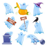 Friendly vector ghosts stock photos