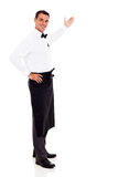 Friendly waiter welcome Royalty Free Stock Image