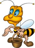 Friendly wasp with basket Stock Photo