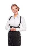 Friendly white-collar worker Royalty Free Stock Image