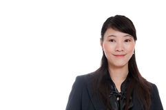Friendly woman. Friendly business woman on white background Royalty Free Stock Photos