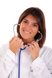 Friendly woman doctor Stock Photos