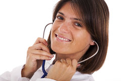Friendly woman doctor Stock Photography