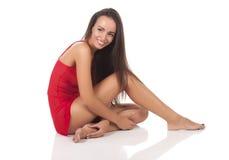 Friendly woman royalty free stock photo