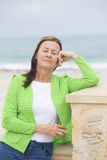 Friendly Woman relaxed with closed eyes Royalty Free Stock Images