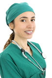 Friendly woman surgeon Stock Photos