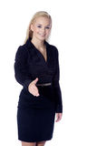 Friendly woman welcomed Royalty Free Stock Photo