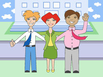 Friendly working team. Vector illustration of friendly working team Stock Photos