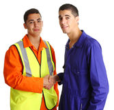 Friendly workmen Royalty Free Stock Photos